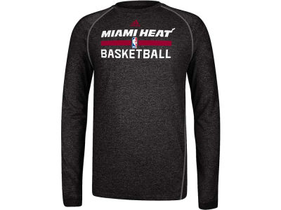 Miami Heat adidas NBA Long Sleeve Climalite Practice T-Shirt