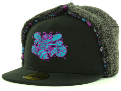 Charlotte Hornets New Era NBA Hardwood Classics Pattern'd Up Dog Ear 59FIFTY Cap