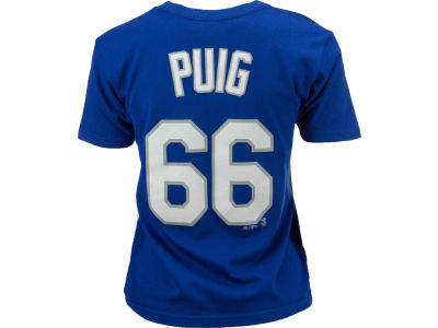 Los Angeles Dodgers Yasiel Puig Majestic MLB Youth Player T-Shirt