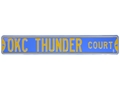 Oklahoma City Thunder Team Street Sign