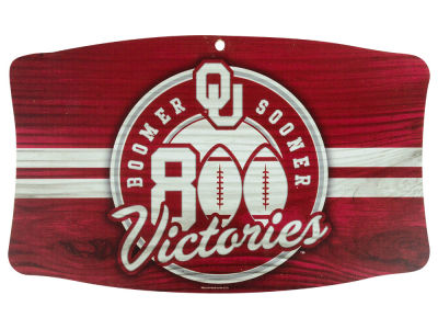 Oklahoma Sooners Vault Wood Sign 11x17