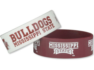 Mississippi State Bulldogs 2-pack Wide Bracelet
