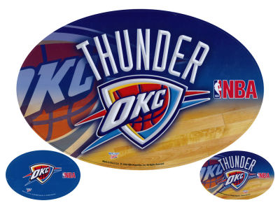 "Oklahoma City Thunder 12"" x 12"" Car Magnet"