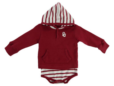 Oklahoma Sooners NCAA Infant Hooded Striped Creeper