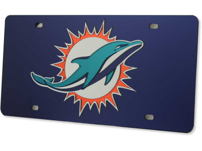 miami dolphins acrylic laser tag - Miami Dolphins License Plate Frame