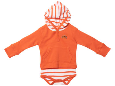 Oklahoma State Cowboys NCAA Newborn Hooded Striped Creeper