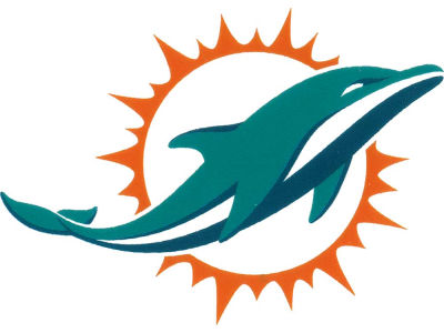 Miami Dolphins Static Cling Decal