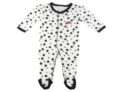 Oklahoma State Cowboys NCAA NB Polka Dot Footed Creeper Body Suit