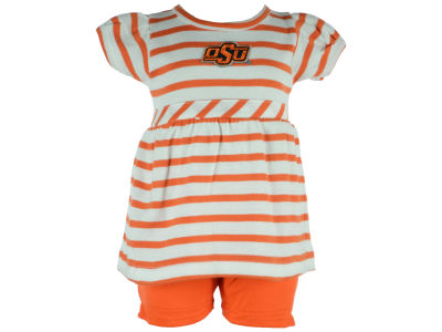 Oklahoma State Cowboys Atlanta Hosiery NCAA Newborn Stripe Dress
