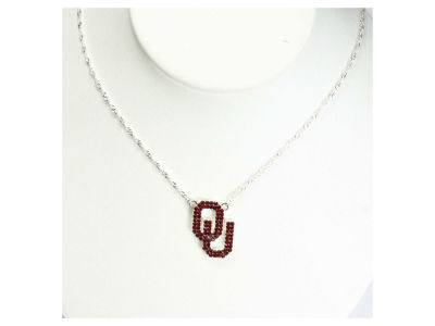 Oklahoma Sooners Crystal Necklace