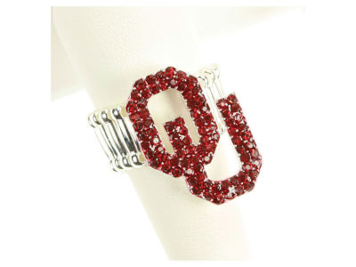 Oklahoma Sooners Crystal Logo Ring