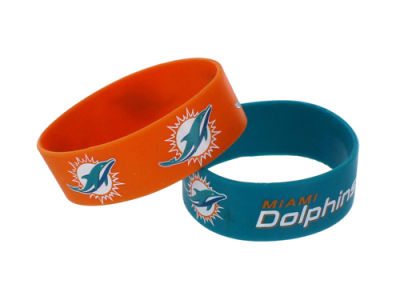 Miami Dolphins 2-pack Wide Bracelet