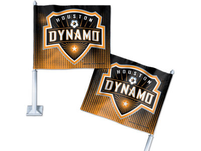 Houston Dynamo Car Flag