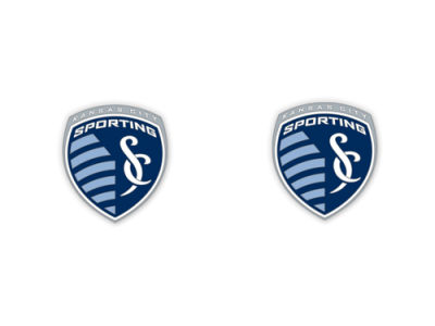 Sporting Kansas City MLS Post Earrings