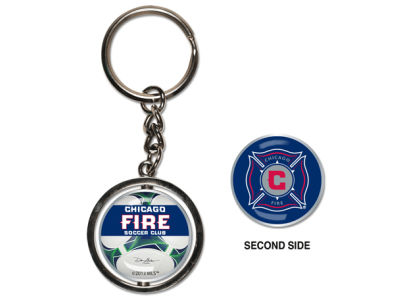 Chicago Fire MLS Spinning Keychain