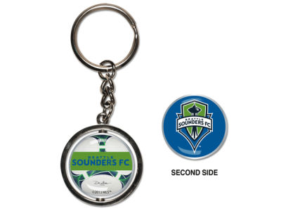 Seattle Sounders FC MLS Spinning Keychain