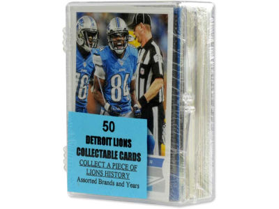 Detroit Lions 50 Card Pack-Assorted
