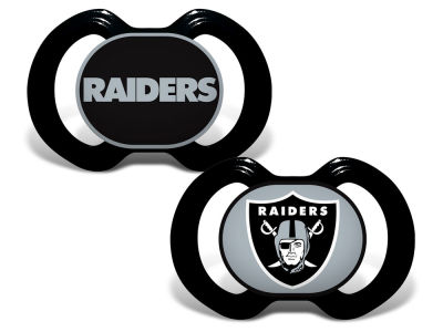 Oakland Raiders 2-pack Pacifier Set