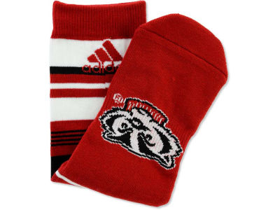 Wisconsin Badgers Stripe Mascot Sock