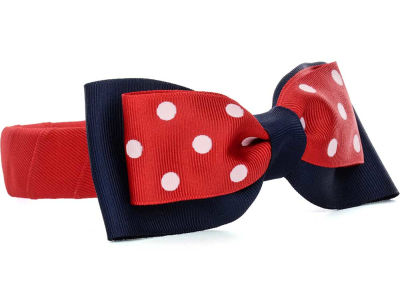 Ole Miss Rebels Headband with Dot Bow