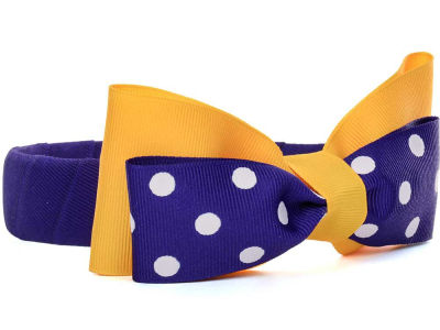 LSU Tigers Headband with Dot Bow