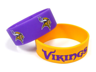 Minnesota Vikings 2-pack Wide Bracelet