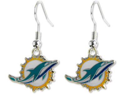 Miami Dolphins Logo Earrings