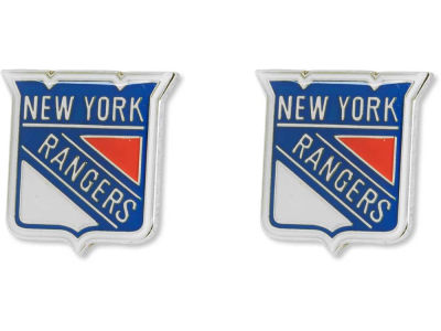 New York Rangers Logo Post Earrings