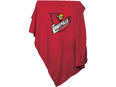 Louisville Cardinals Logo Brands NCAA Sweatshirt Blanket