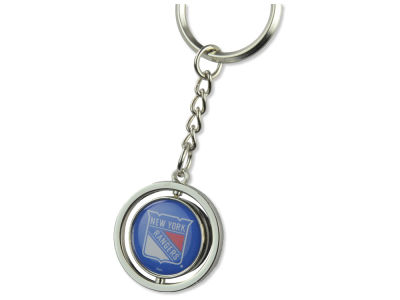 New York Rangers Rubber Puck Spinning Key Ring