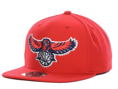 Atlanta Hawks Mitchell and Ness NBA Current Logo Fitted Cap