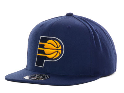 Indiana Pacers Mitchell and Ness NBA Current Logo Fitted Cap