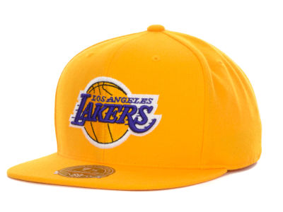Los Angeles Lakers Mitchell and Ness NBA Current Logo Fitted Cap