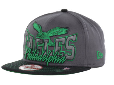 Philadelphia Eagles New Era NFL Graphite Out and Up 9FIFTY Snapback Cap