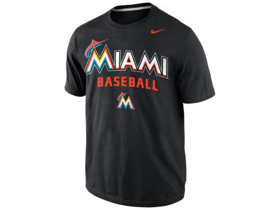 Miami Marlins Nike MLB Men's Away Practice T-Shirt 1.4