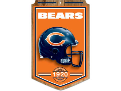 Chicago Bears 11x17 Wood Sign