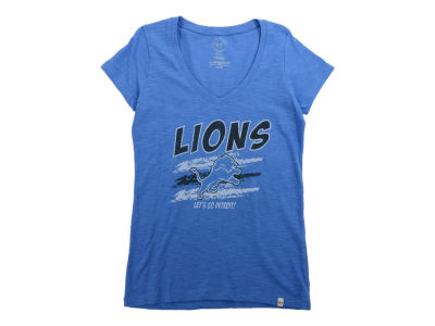 Detroit Lions '47 NFL Womens Lets Go Scrum V-neck