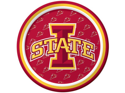 Iowa State Cyclones 8 Count 7 Inch Dessert Plate