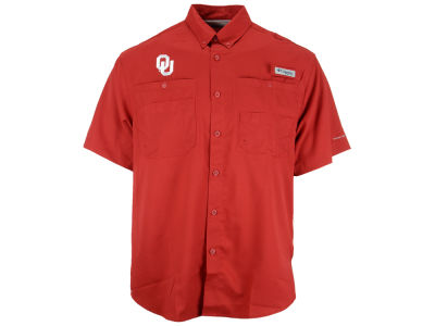 Oklahoma Sooners Columbia NCAA Short Sleeve Bonehead Shirt