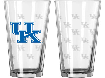 Kentucky Wildcats 16oz Satin Etch Glass