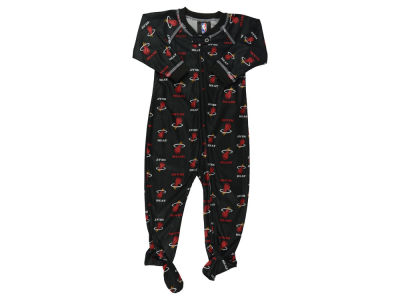 Miami Heat NBA Infant Piped Raglan Zip Up Coverall