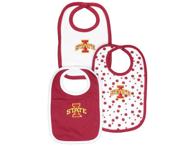 Iowa State Cyclones NCAA Baby Bib 3 Pack