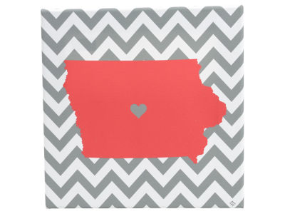 Iowa State Cyclones 12x12 Chevron State Canvas