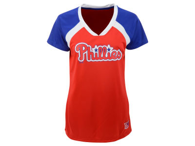 Philadelphia Phillies Majestic MLB Women's Synthetic Fashion T-Shirt