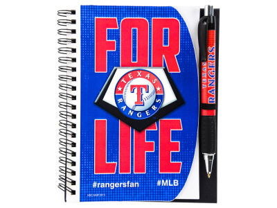 Texas Rangers 5x7 Spiral Notebook And Pen Set