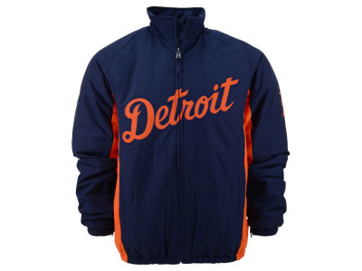 Detroit Tigers Majestic MLB Men's Double Climate On-Field Jacket