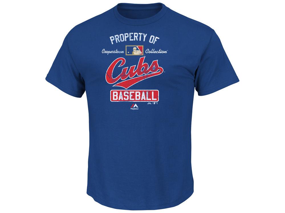 bd435748 Chicago Cubs Majestic MLB Men's Cooperstown Vintage Property Of T-Shirt