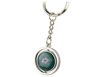 Dallas Stars Rubber Puck Spinning Key Ring