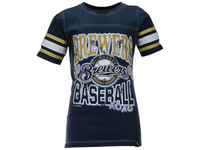 Milwaukee Brewers 5th & Ocean MLB Youth Girls XOXO T-Shirt