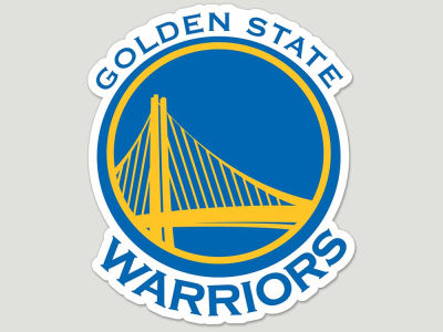 Golden State Warriors Die Cut Color Decal 8in X 8in